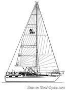 Nauticat Yachts Nauticat 351 plan de voilure Image issue de la documentation commerciale © Nauticat Yachts