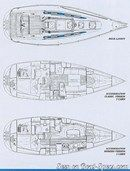 X-Yachts X-362 layout Picture extracted from the commercial documentation © X-Yachts