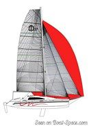 Corsair Marine Corsair 37 sailplan Picture extracted from the commercial documentation © Corsair Marine