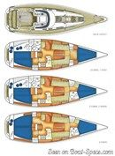X-Yachts X-37 layout Picture extracted from the commercial documentation © X-Yachts