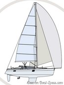 Elan Yachts Impression 40 plan de voilure Image issue de la documentation commerciale © Elan Yachts