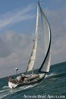 Dufour 3800 sailing Picture extracted from the commercial documentation © Dufour