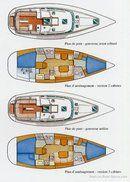Jeanneau Sun Odyssey 40 DS plan Image issue de la documentation commerciale © Jeanneau