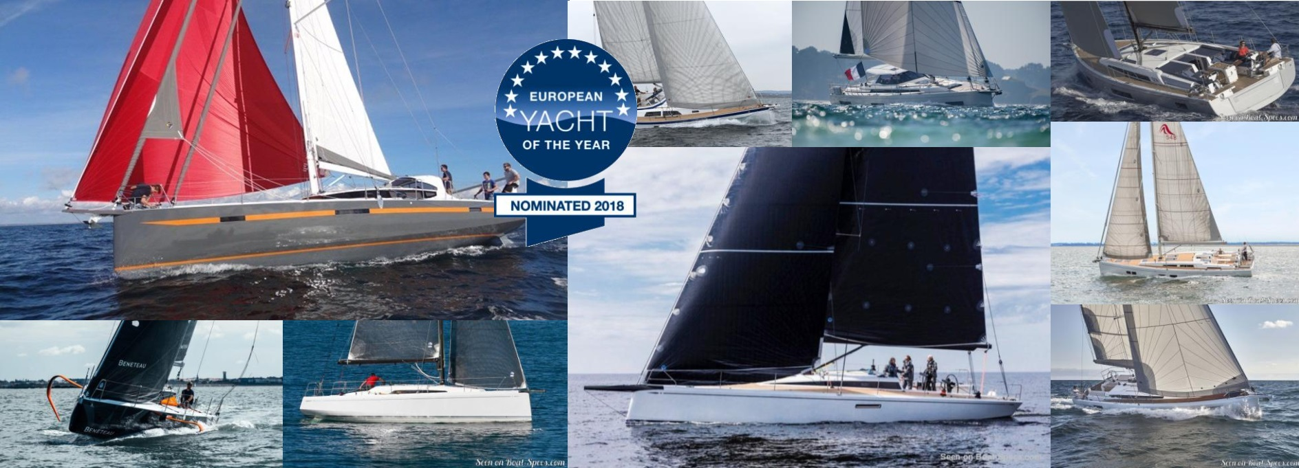 European Yacht of the Year 2018 nominated sailboats © Boat-Specs.com