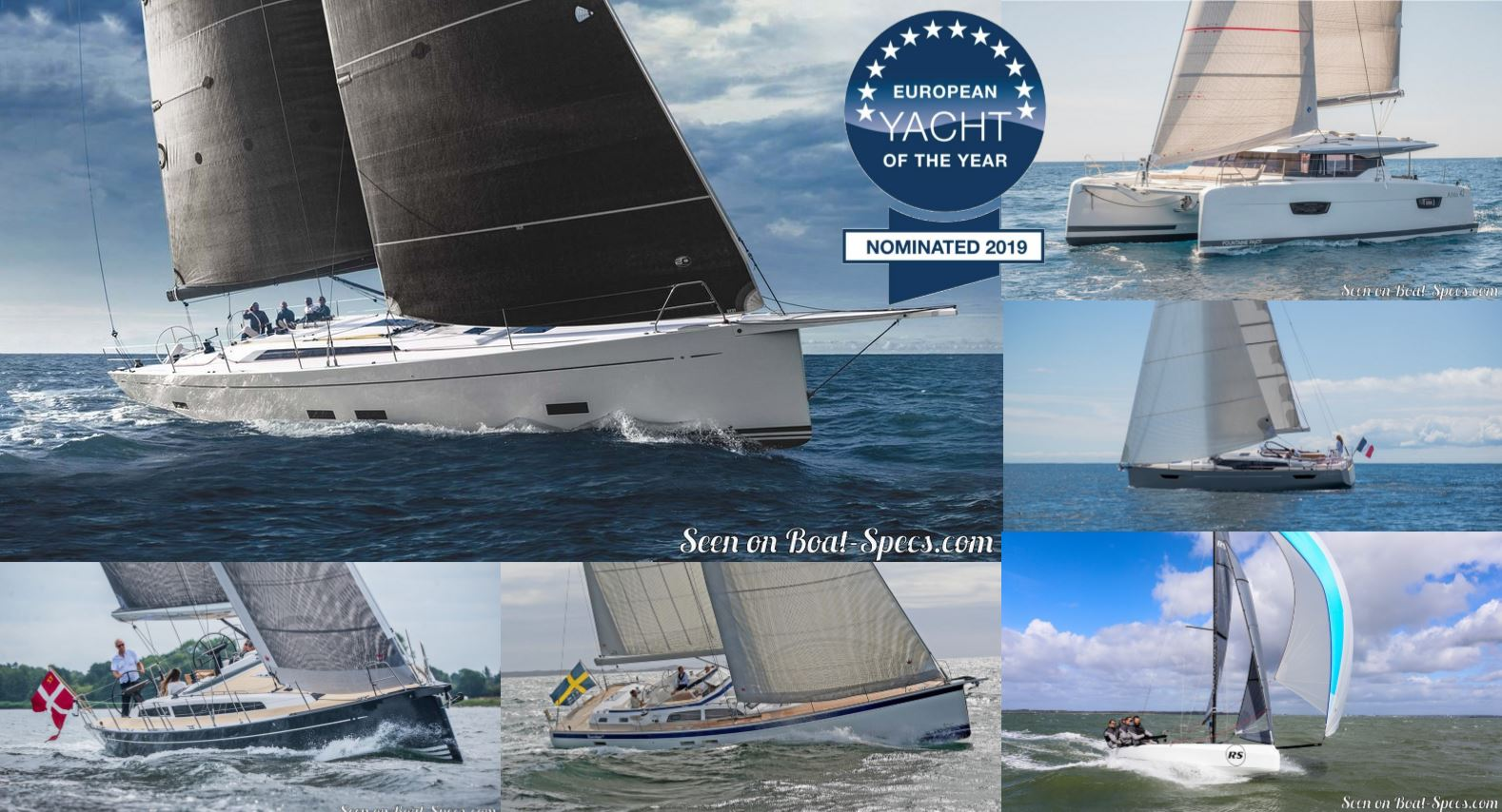 European Yacht of the Year 2019 nominated sailboats © Boat-Specs.com