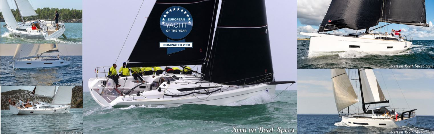 European Yacht of the Year 2020 nominated sailboats © Boat-Specs.com