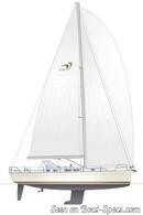 Moody 41 Aft sailplan