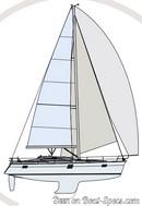 Elan Yachts  Impression 45 sailplan