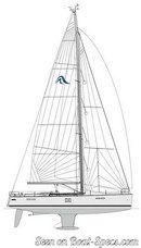 Hanse 545 sailplan
