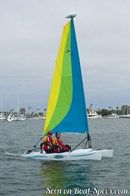 Hobie Cat Bravo sailing