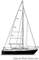 Hallberg-Rassy 26 sailplan