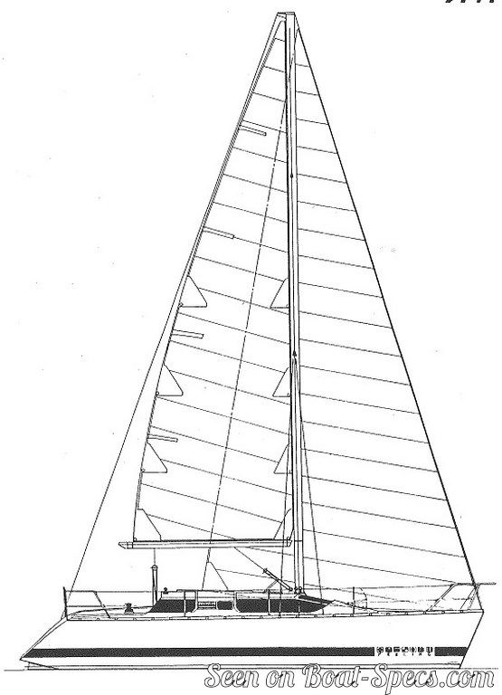 Elite 326 deep draft (Kirié) sailboat specifications and