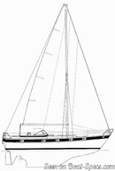 Hallberg-Rassy 38 sailplan
