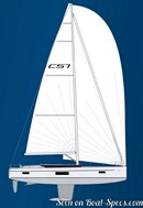 Bavaria Yachtbau Bavaria C57 plan de voilure