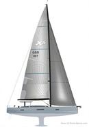 X-Yachts X6<sup>5</sup> plan de voilure