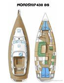 Nordship Yachts Nordship 430 DS layout