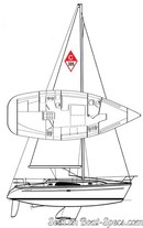 Catalina Yachts Catalina 309 plan de voilure