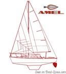 Amel Super Mistral Sport plan de voilure