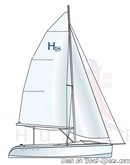 Marlow Hunter 18 sailplan