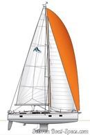 Hanse 418 sailplan