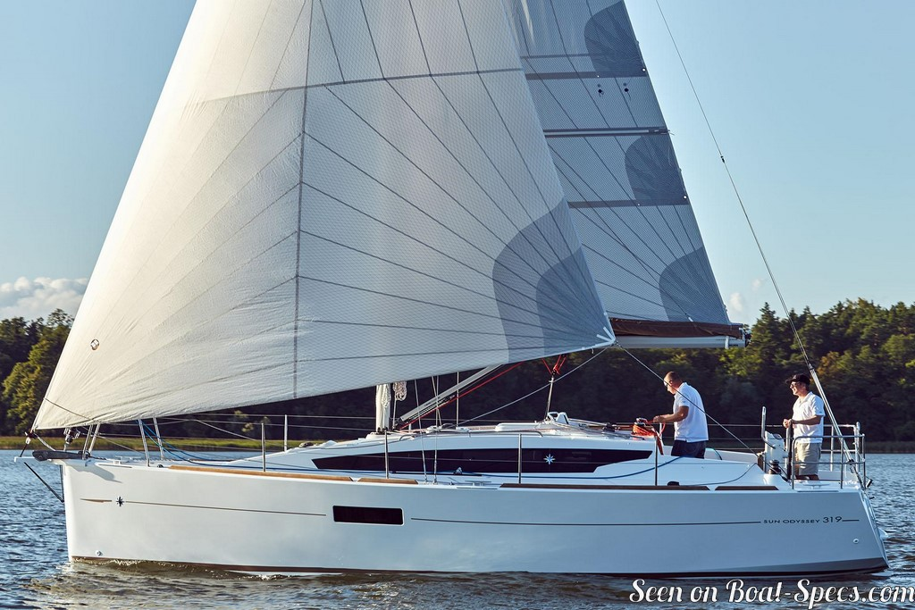 Sun Odyssey 319 keel and centerboard (Jeanneau) sailboat specifications and  details on Boat-Specs com