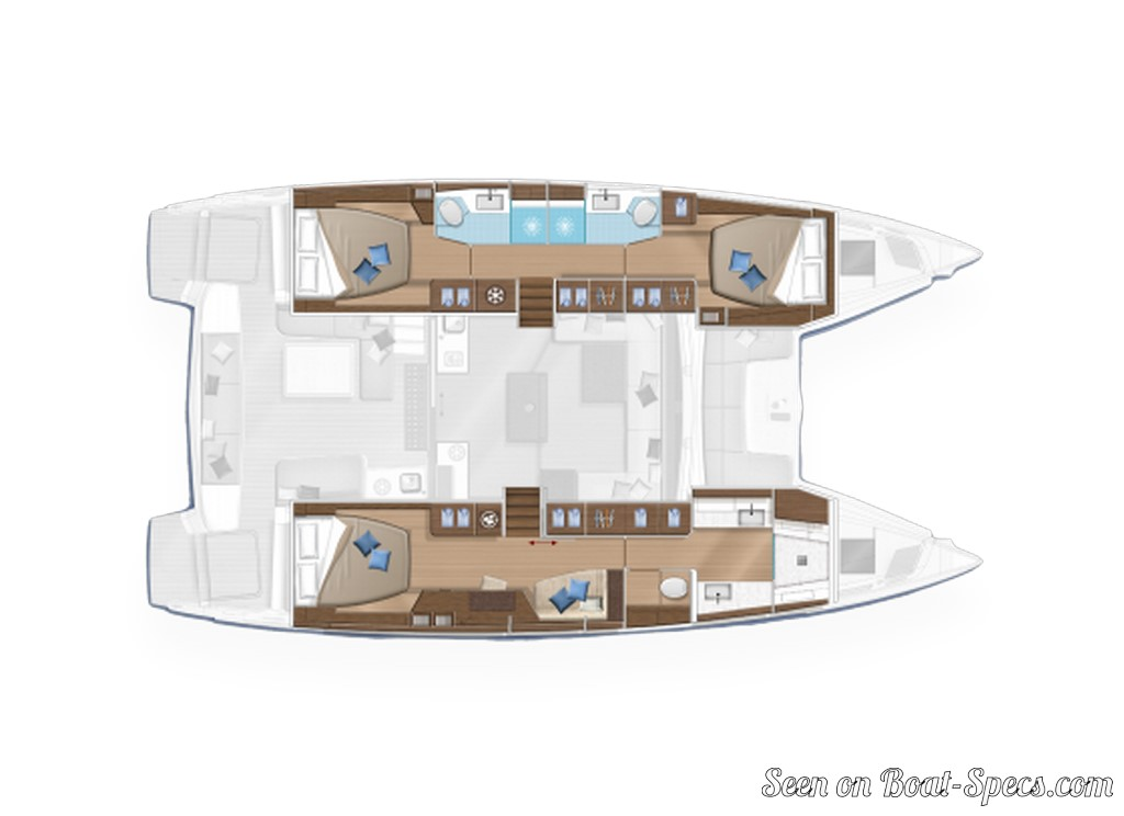 Lagoon 50 sailboat specifications and details on Boat-Specs com