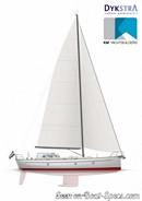 K&M Yachtbuilder Bestevaer 45ST Pure sailplan
