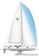 Hanse 508 sailplan