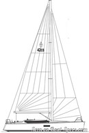 Conyplex  Contest 42CS sailplan