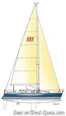 X-Yachts X-332 plan de voilure