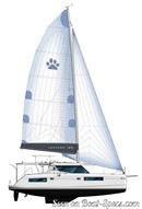 Robertson and Caine Moorings 4500 sailplan