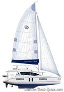 Robertson and Caine Moorings 5800 sailplan