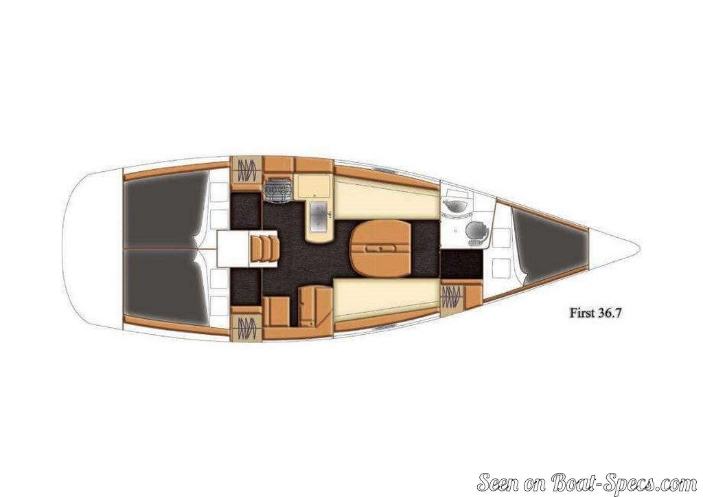 First 36.7 deep draft (Bénéteau) specifications and details on Boat-Specs.com