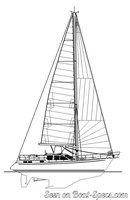 Nauticat Yachts Nauticat 42 sailplan