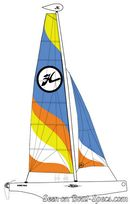 Hobie Cat Max plan de voilure