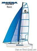 Nacra 500 sailplan
