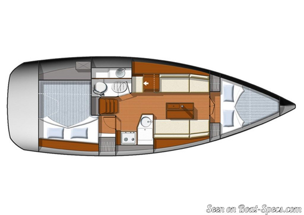 Sun Odyssey 33i Performance Jeanneau Sailboat Specifications And