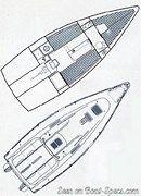 Bénéteau First 260 Spirit plan