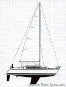 Bénéteau First 325 sailplan