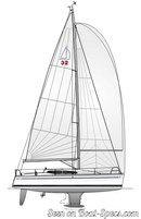 Dehler 32 sailplan