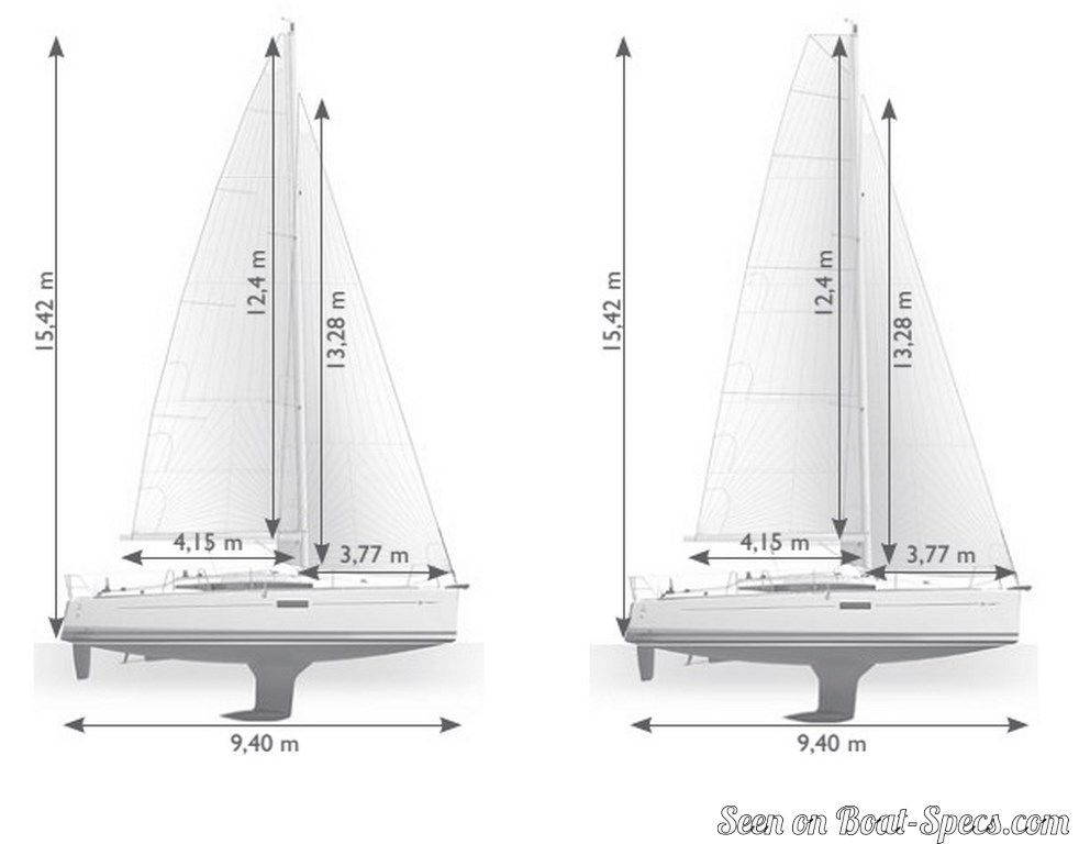 Sun Odyssey 349 Performance Jeanneau Sailboat Specifications And Details On Boat Specs Com