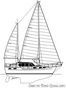 Nauticat Yachts Nauticat 331 plan de voilure