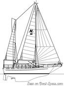 Nauticat Yachts Nauticat 38 sailplan